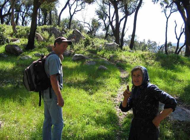 Foto-Bergbauern beim Wandern