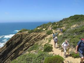 Foto: an der Westküste der Algarve bei einer Wanderwoche