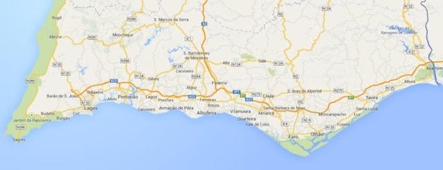 Foto: Portugal Algarve-Karte