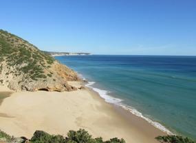 Foto-Strand während der Wanderung von Sagres nach Figueira