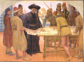Zeichnung: Heinrich mit den Gelehrten