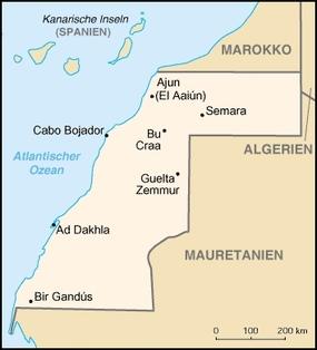 Foto: Landkarte Cabo Bojador