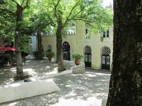 Foto: Platz mit Platanen in Caldas de Monchique