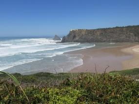 Foto: Der Strand von Süd nach Nord gesehen