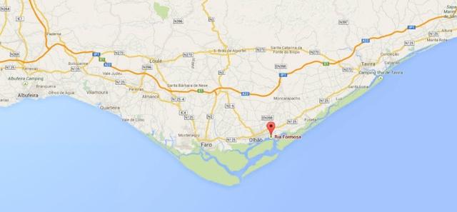 Foto: Karte der Ria Formosa bei Faro