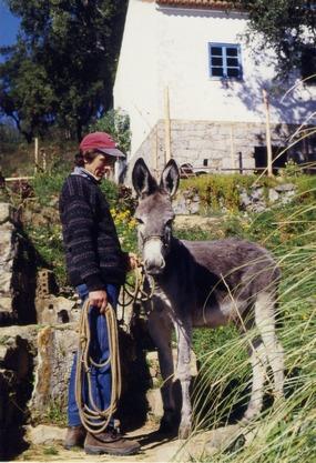 Uwe mit Esel