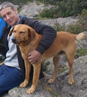 Foto: Uwe mit Hund