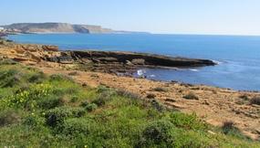 Foto: Gesteinsplatten kurz vor Erreichen von Praia da Luz