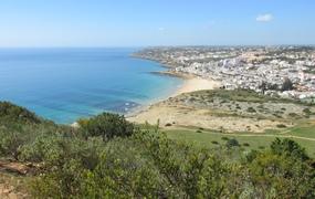 Aussicht auf den Strand von Praia da Luz
