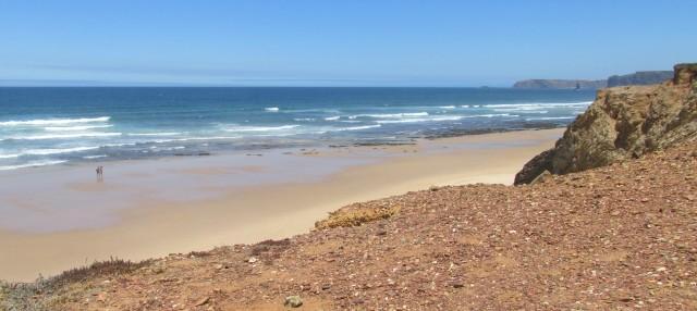 Foto: Der Praia Vale Figueiras Richtung Norden