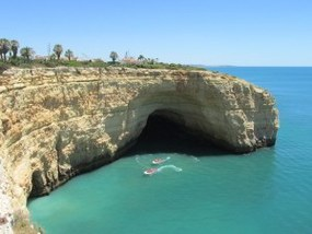 Klippen-Wanderweg an der Algarve-Küste bei Carvoeiro