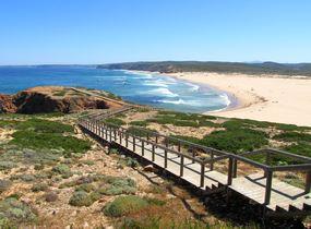 Start der Wanderung bei Carrapateira an der Westküste