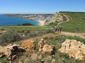 Foto von der Aussicht nach dem Aufstieg in Praia da Luz