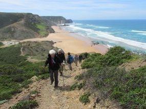 Aussicht beim Aufstieg an der Westküste der Algarve