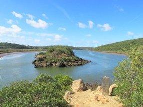 Rastplatz Flussgabelung Algarve-Wanderung Silves