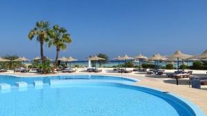 Der Poolbereich vom Hotel für Wanderreisen an die Algarve